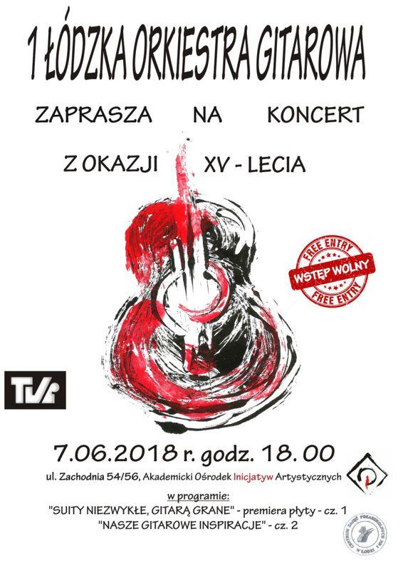 Koncert gitarowy 1 Łódzkiej orkiestry Gitarowej