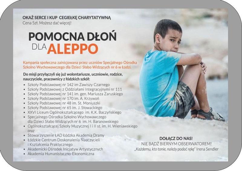 """""""Misja Społeczna Dłoń dla dzieci z Aleppo"""""""